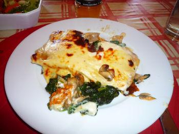 pumpkin spinach cannelloni