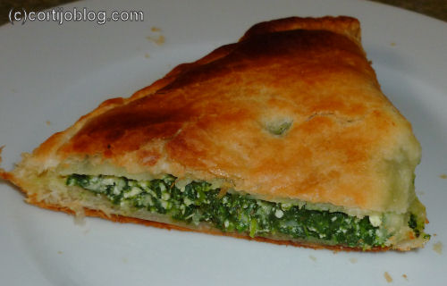 spinach and ricotta pasties