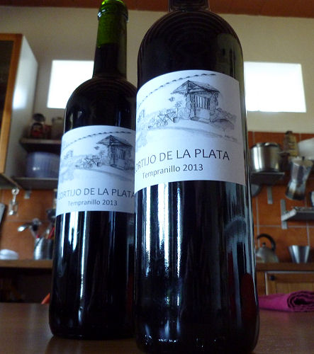 Bottled and corked wine