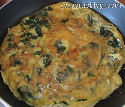 spinach ricotta omelette