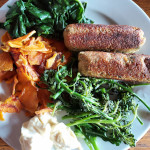 vegetarian vegan tofu sausages